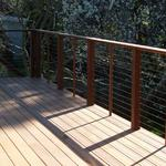 Cumaru deck with cable rail.