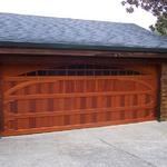 Custom built redwood Garage door, handmade by Brian Sullivan.