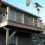 Second story deck.