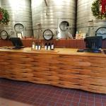 Custom made wine bar for Cakebread Cellars in Napa, Ca.