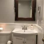 Custom built mirror with windfall Claro Walnut in Petaluma, Ca.