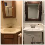 Before & After bathroom remodel in Petaluma, Ca.